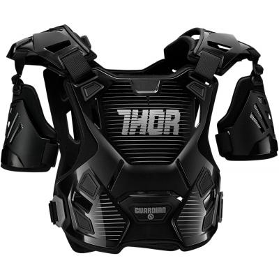 Chránič hrude Thor Guardian čierno-sivý, na motorku