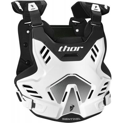 Detský chránič hrude Thor Sentinel GP bielo-čierny, na motorku
