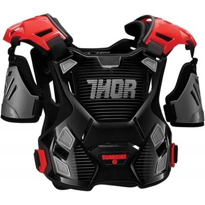 Detský chránič hrude Thor Guardian čierno-červený, na motorku