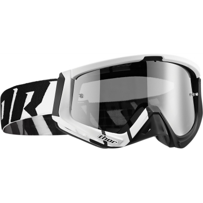 Okuliare na motorku Thor 2019 Sniper Barred čierno-biele