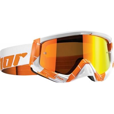 Okuliare na motorku Thor 2019 Sniper Chase bielo-oranžové