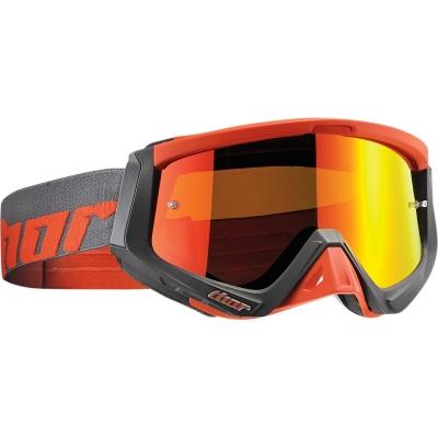 Okuliare na motorku Thor 2019 Sniper Warship sivo-oranžové