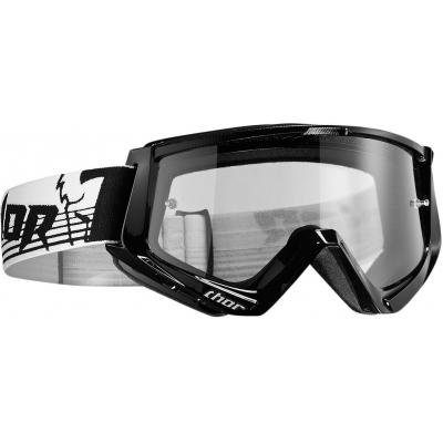 Okuliare na motorku Thor 2019 Conquer čierno-biele