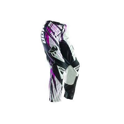Dámske nohavice Thor Phase Magenta čierno-ružovo-biele, na motorku