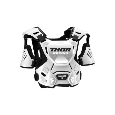 Chránič hrude Thor Guardian bielo-čierny, na motorku