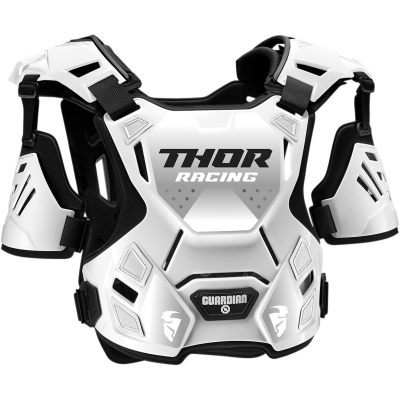 Detský chránič hrude Thor Guardian bielo-čierny, na motorku