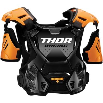 Chránič hrude Thor Guardian čierno-modrý, na motorku