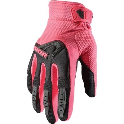 Dámske rukavice Thor Spectrum 2021 čierno-ružové, na motorku