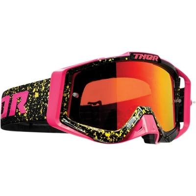 Okuliare THOR Sniper Pro SPLATTA 22, čierno-ružové