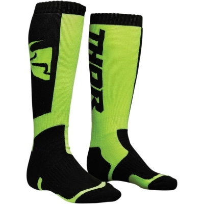 Ponožky THOR MX, pánske, čierno-zelené