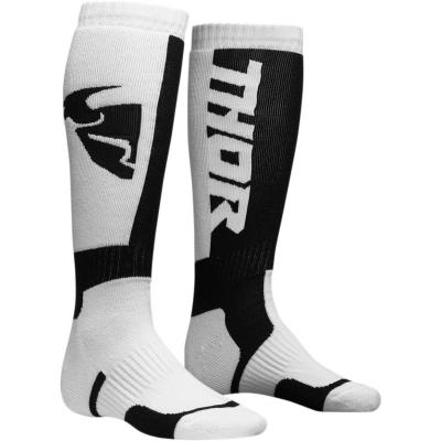 Detské ponožky THOR MX, čierno-biele