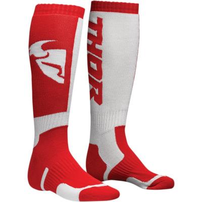 Detské ponožky THOR MX,červeno-biele