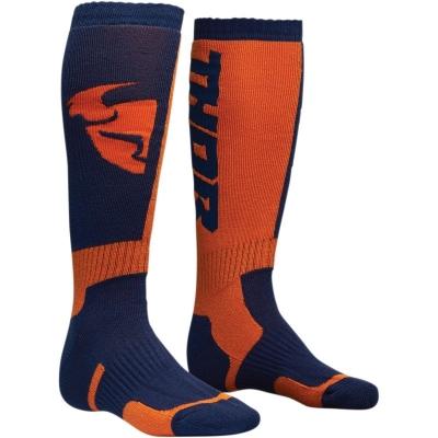Detské ponožky THOR MX, modro-oranžové