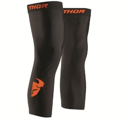 Návleky THOR pod kolenačky, čierno-oranžové