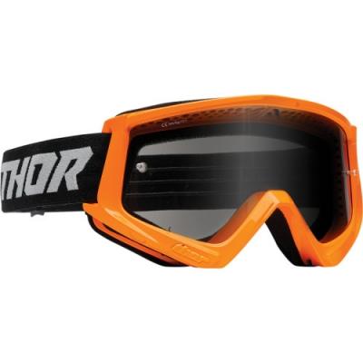 Okuliare Thor Combat Sand 22- fluo oranžovo-čierne