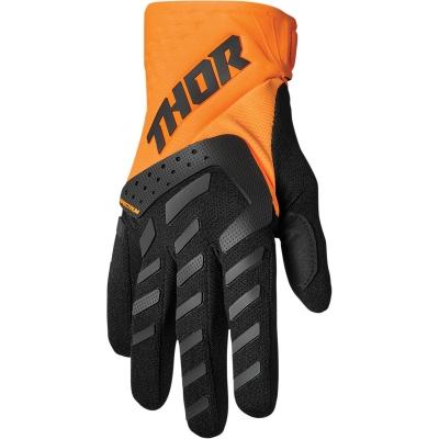 Rukavice Thor SPECTRUM 22, čierno-oranžové fluo
