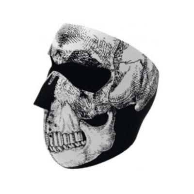 Maska Zan Skull - fluoreskujúca v tme