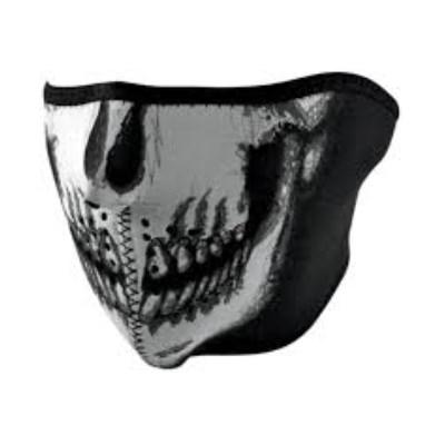 Maska Zan Skull - polovičná, fluoreskujúca v tme