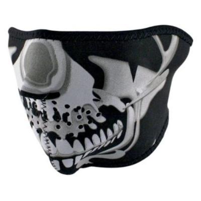 Maska Zan skull chrome - polovičná