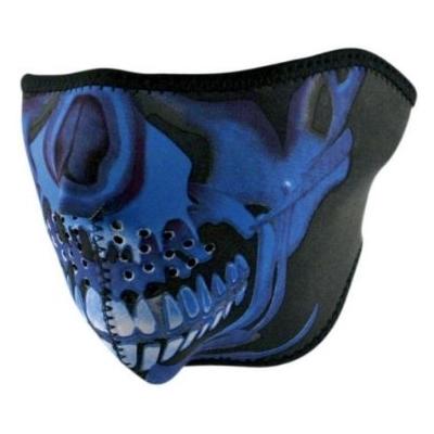 Maska Zan skull modrá - polovičná