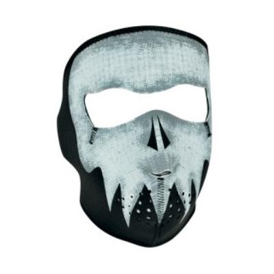 Maska Zan skull gray - fluoreskujúca v tme
