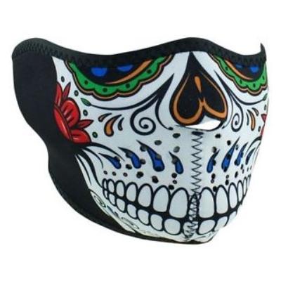 Maska Zan muerte skull - polovičná