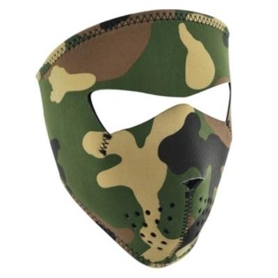 Maska Zan woodland camo - malá veľkosť