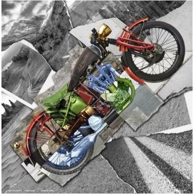 Šatka Zan bandanna motorcycle montage deluxe